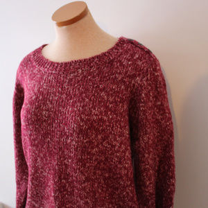 Maroon Woman's Long Sleeve XL Sweater